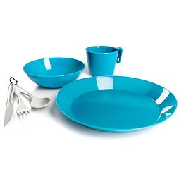 Jídelní sada pro 1 osobu GSI Outdoors Cascadian 1 Person Table set Set sky blue