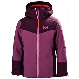 Juniorská zimní bunda Helly Hansen JR Divine Jacket magenta haze