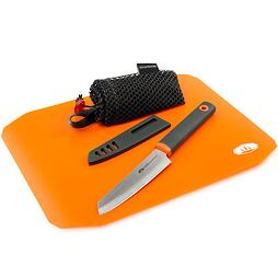 Kompaktní kuchyňská sada GSI Outdoors Rollup Cutting Board Knife Set