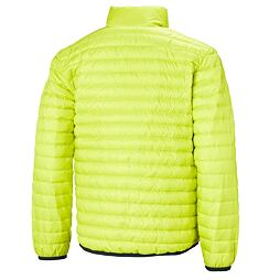 Dětská péřová bunda Helly Hansen JR Barrier down insulator - sweet lime OBOUSTRANNÁ