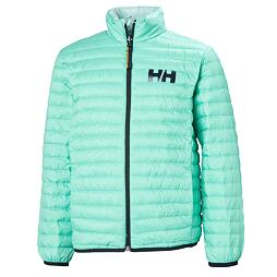 Dětská péřová bunda Helly Hansen JR Barrier down insulator - pool blue OBOUSTRANNÁ