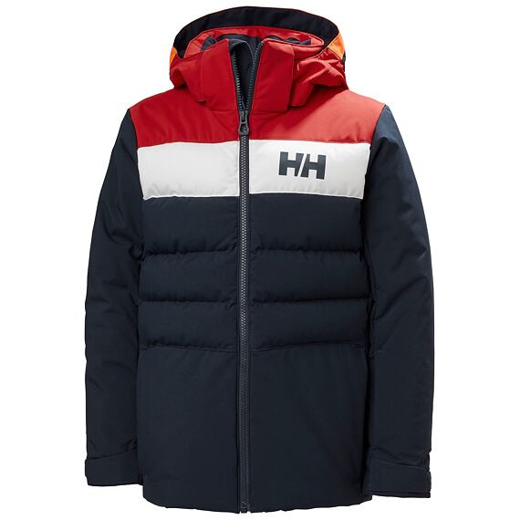 Juniorská zimní bunda Helly Hansen JR Cyclone Jacket navy/red